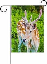 vinlin Garten Flagge Spotted Hirsch mit Samt