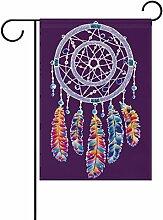 vinlin Garten Flagge Violett Dreamcatcher mit