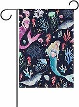 vinlin Garten Flagge Watercolor Meer mit