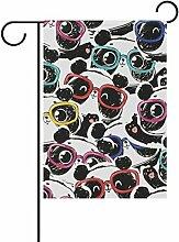 vinlin Garten-Panda, Brille mit Flagge aus