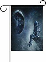 vinlin Garten-Spaceman-Rock aus Polyester mit