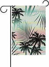 vinlin Garten-tropische Sommer Palmen mit Motiv