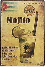 VinMea La Habana Kuba Mojito Drink Blechschild