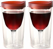 Vino2Go Double Wall Insulated Acrylic Wine Tumbler