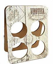 Vinoteca Weinregal, klein, für 4 Flaschen,