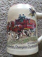 Vintage 1980Budweiser Champion Clydesdales Stein