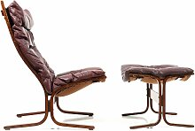 Vintage 2 Highback Sessel & Fußhocker von Ingmar