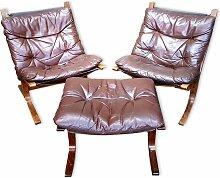 Vintage 2 Siesta Stühle & Fußhocker von Ingmar