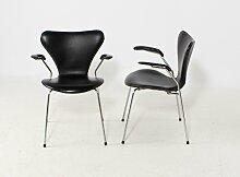 Vintage 3207 Stuhl von Arne Jacobsen für Fritz