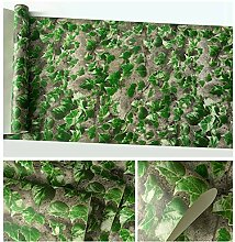 Vintage 3D Tapete Kriechpflanze grüne Blätter