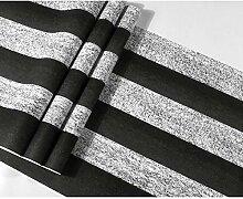 Vintage 3D Tapete Schwarz Weiß Streifen