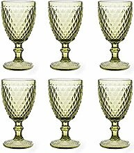 Vintage 6 Teile Set Glasnetz König Trinkglas Glas
