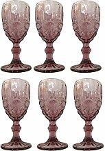 Vintage 6 Teile Set Schleife Weinglas Glas Gläser