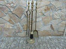 Vintage Accessoires für Kamin aus Messing