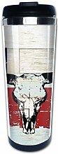 Vintage American State Texas Flagge Stier Schädel