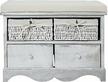 Vintage and Shabby Bench Furniture homesweethome bianco vintage (Cod. RE4039)