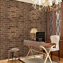 Vintage Antik Ziegel Ziegel Ziegel Muster 3D Stereo Tapete Chinesische Kaffee Bekleidungsgeschäft Friseursalon Salon Wallpaper 53Cmx1000Cm