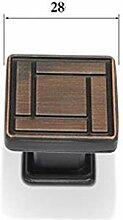 Vintage Antique Bronze Drawer Ring Stoßgriffe 1
