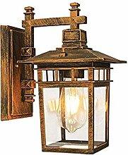 Vintage Außen-Wandleuchte Gartenlampe Bronze