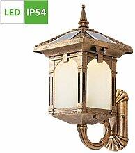 Vintage Außen-Wandleuchte, Solarlampen für