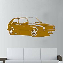 Vintage Auto VW Golf Klassische Wandkunst