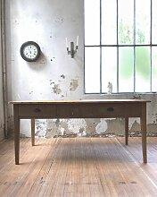 Vintage Bauerntisch aus Kiefer & Eichenholz