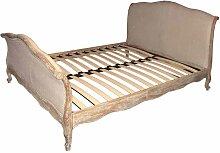 Vintage Bett in Creme Weiß Eiche antik mit