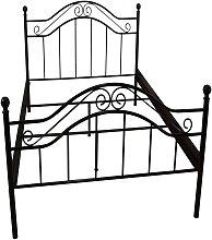 Vintage Bett in Schwarz Metall