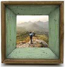 Vintage Bilderrahmen 15x15 aus echtem Tannenholz,