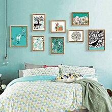 Vintage Bilderrahmen Großes Bilderrahmen-Wand-Set