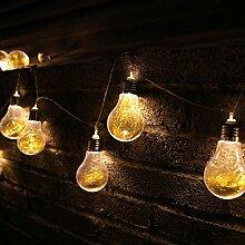 Vintage Birnen Lichterkette Außen,KINGCOO 4M