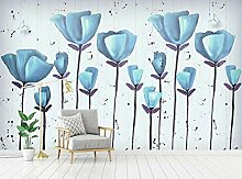 Vintage Blume 3D Tapeten -250Cmx180Cm Frische
