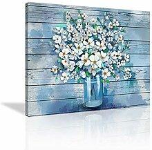 Vintage-Blumen- und Landhaus-Wandkunst,