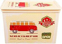 Vintage Box Cube Garage Design Aufbewahrungsbox Dose Schachtel Kiste Auto Gas Station