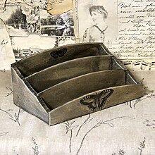 Vintage Briefablage 26x16 cm Holzablage Landhaus