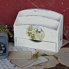 Vintage Briefablage Holzablage Ablage Landhaus