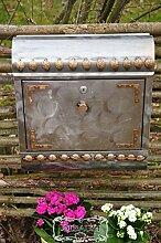 Vintage-Briefkasten, Retro Edelstahl stylisch cool