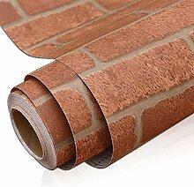 Vintage Brown Brick Tapete für Wohnzimmer Dekor