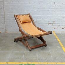 Vintage Buchenholz Liegestuhl
