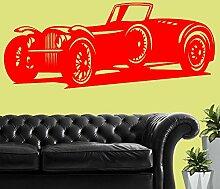 Vintage-Cabrio-Auto-Wand Vinyl Wohnzimmer
