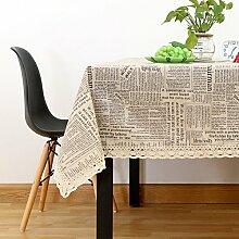 Vintage cotton leinen tischtuch/garten frische tischdecken/einfaches europäisches lace tuch tisch tuch-B 140x200cm(55x79inch)