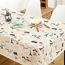 Vintage cotton leinen tischtuch/garten frische tischdecken/einfaches europäisches lace tuch tisch tuch-D 140x220cm(55x87inch)