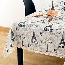 Vintage cotton leinen tischtuch/garten frische tischdecken/einfaches europäisches lace tuch tisch tuch-E 110x170cm(43x67inch)