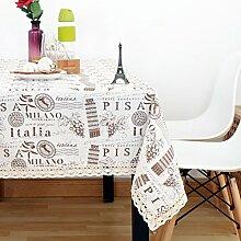 Vintage cotton leinen tischtuch/garten frische tischdecken/einfaches europäisches lace tuch tisch tuch-C 150x150cm(59x59inch)
