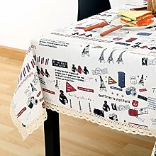 Vintage cotton leinen tischtuch/garten frische tischdecken/einfaches europäisches lace tuch tisch tuch-F 150x150cm(59x59inch)