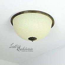 Vintage Deckenlampe 2xE27 Ø38cm Metall Braun Gold