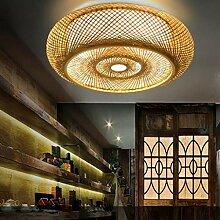 Vintage Deckenlampe Holz Retro Bambus Laterne