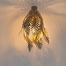 Vintage Deckenleuchte gold - Botanica