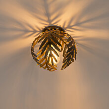 Vintage Deckenleuchte klein gold - Botanica