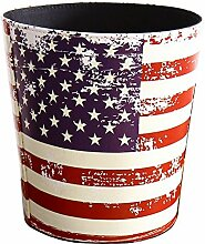 Vintage Deko American Flagge Trash Can Garbage
